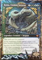 Koma, Cosmos Serpent - Full Art / Altered -  MTG / Magic the Gathering Alter