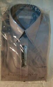 Geoffrey Beene Mens Dress Shirt Gray Long-Sleeve 15 1/2  34/35 M