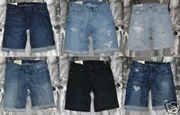 NWT Hollister HCO By Abercrombie Classic Fit Authentic Denim Shorts At The Knee