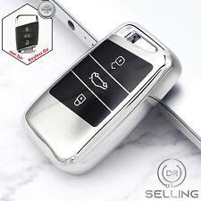 Schlüsselhülle passend für VW Passat B8 Arteon Skoda Superb Keyless Silber Gen2
