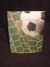 """Soccer Picture Frame Holds 4"""" x 6"""" Picture Soccer Ball and Net on the Frame"""