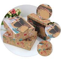 12 Stück Weihnachten tragbare Goody Candy Box Keksdosen für Weihnachtsfeier