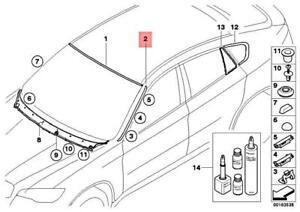 BMW OEM 08-14 X6 Windshield-Pillar Side Molding Trim Surround Right 51317250404