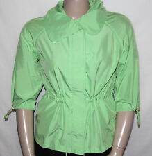 NEW Lilly & Van Size Medium 3/4 Sleeve Anorak Jacket with Bungee Detail GREEN