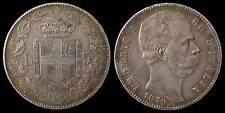 pci905) Regno Umberto I Scudo lire 5 del 1879 - patina da monetiere