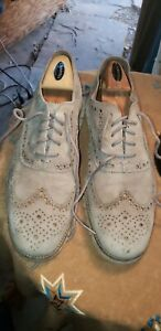 Cole Haan Grand OS Gray Suede Men's Lace Up Wingtip Oxford Shoes Size 12M WORN!!