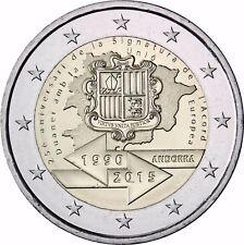 Andorra 2 Euro 2015 stgl 25 Jahre Zollunion mit der EU in CoinCard