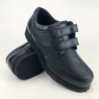 Dr. Scholls Michael Black LEather Hook Loop Orthotic Comfort Shoes Mens Size 9.5