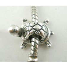 Carino Turtle Tartaruga Bracciale con Charm Ciondoli Perline Braccialetto Regalo Argento Europeo PD