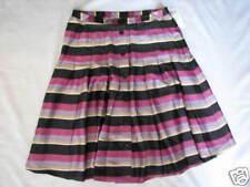 EMMA JAMES Pleated Striped Skirt SZ 8P NWT $49