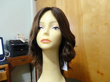 Malky Wig European Multidirectional HumanHair Wig Sheitel Medium Brown Highlight