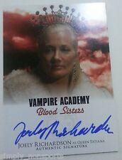 VAMPIRE ACADEMY BLOOD SISTERS MOVIE AUTOGRAPH/AUTO RED CARD JOELY RICHARDSON