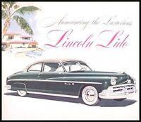 1950 Lincoln Lido Original Dealer Sales Brochure, 50