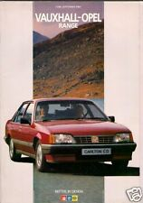 Vauxhall Opel June-September 1985 UK Brochure Nova Astra Cavalier Manta Carlton