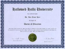 Doctor Education Novelty Diploma Gag Gift Teacher