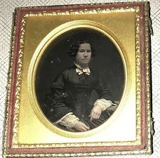 More details for daguerreotype 1/6 plate victorian lady in black mourning dress photograph