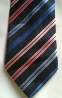 Thomas Nash blue & pink striped silk tie
