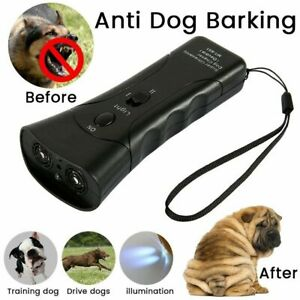 Ultrasonic Anti Dog Barking Trainer LED Light Gentle Chaser Petgentle Sonics