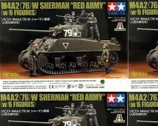 Tamiya 1/35 M4A2(76)W Sherman Red Army with 6 Figures #25105 *Sealed*