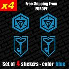 Set of 4 INGRESS Resistance  Vinyl Decal Sticker Aufkleber - Blue, Die-Cut
