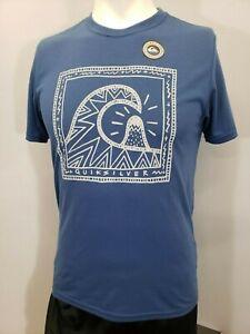 "New Quiksilver Men's ""Retro Logo"" Short Sleeve T-Shirt, Mult Colors, S-XL, Slim"