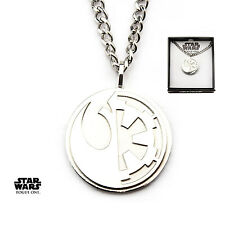 STAR WARS ROGUE ONE: REBEL ALLIANCE V GALACTIC EMPIRE PENDANT ON CHAIN NECKLACE