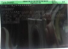 Honda CB250 2000 - 2007 Parts List Microfiche h218