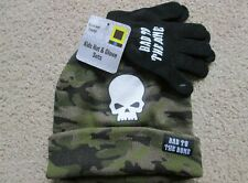 NEW BAD TO THE BONE KIDS HAT GLOVE SET HAND FACE PROTECTION COVER WITH TAGS_