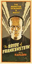 "The Bride of Frankenstein Movie Poster Replica 9.5 x 19"" Photo Print"