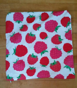 "IKEA Raspberry Cushion Pillow Cover 20' x 20"" 50 x 50 cm Cotton Sommar"