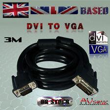DVI (29 Pin) -TO- VGA / SVGA (15Pin) CABLE / LEAD - PC TO VGA Monitor (3 METRES)