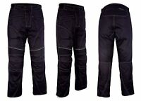 Motorbike Motorcycle Waterproof Cordura Textile Trousers Pants CE Armours BLACK