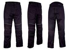 Motorbike Motorcycle Waterproof Cordura Textile Trousers Pants CE Armours BLACK