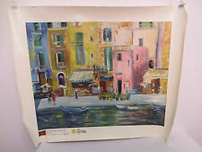 ELLIOT FALLAS PORTOFINO PARADISE PAINTING INTERNATIONAL ART GALLERIES LTD 13093