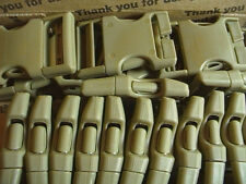 "Plastic Buckles 1.5 "" US Military Surplus Lot Of 24 Coyote Desert"