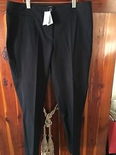 J. JILL  FLAT FRONT STRETCH COTTON CHINO PANTS BLACK MISSES. Size 16