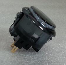 Japan Sanwa Clear Black Buttons x 1 pc OBSC-30-CS Video Arcade Parts