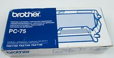Brother PC-75 Printing Cartridge for FAX-T102/T104/T106 Damaged Creased Box NEW