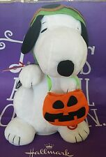 "Nwt Hallmark Peanuts Flying Ace Halloween 10"" Snoopy w/Sound & Motion-New"