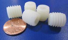 "Nylon 66 Plastic Set Screws, Flat Point, 1/2""-13 x 1/2"" Length, 25 Pieces"