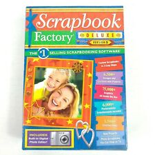 Scrapbook Factory Deluxe Version 5 PC Software Digital Photo Editor New Sealed