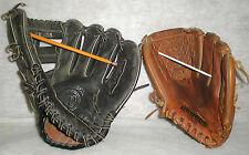 Vintage Leather Baseball Mitts Wilson Blackjack A2355 & Regent Eagle Tan 03122