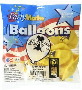"""Iowa State Cyclones NCAA College Sports Party Decoration 11"""" Latex Balloons"""