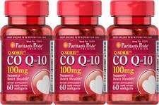 Puritan's Q-Sorb CO Q-10 CoQ10 CoQ-10 100 mg 180 Sgel Heart Brain Health + Bonus