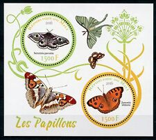 Mali 2016 MNH Butterflies 2v M/S Insects Butterfly Stamps