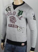 Polo Ralph Lauren Grey Varsity Tiger Footbal 67 Gothic P Sweatshirt NWT