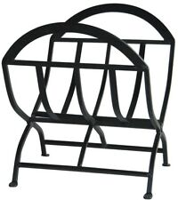 Firewood Rack 1.8 ft. Indoor Decorative Classic Style Black Wrought Iron Finish