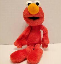 "Sesame Street SOFT FUZZY ELMO 10"" Plush STUFFED ANIMAL Toy Vintage"