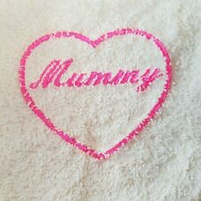 Embroidered 100% Egyptian Cotton Face Cloth - Mummy