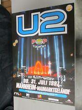 1997 German Euro Rock Concert Poster U2 Pop Mart Tour MTV Die Fantastischen Vier